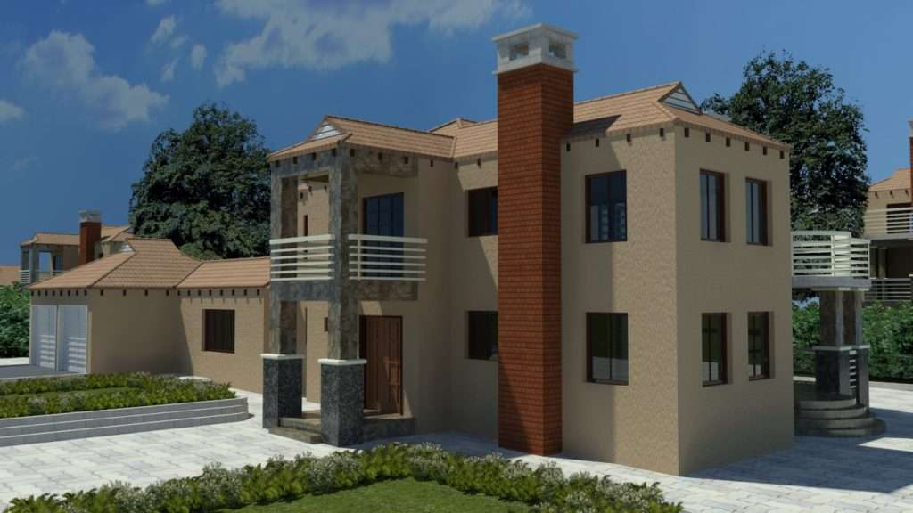 Plans House Floor African Modern