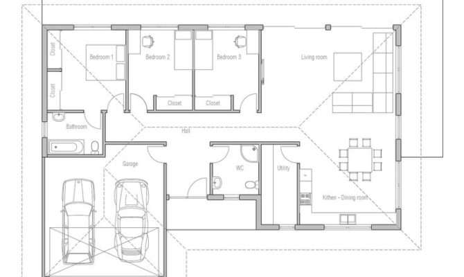 Plans House Small Houses Three Bedrooms Cabin