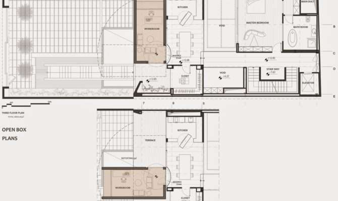 Plans Third Floor Plan Section Nextoffice Sharifi House