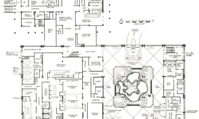 Polynesian Great Ceremonial House Plans Floor Walt Disney World