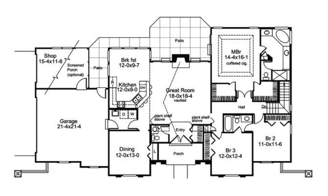 Pomona Park Southwestern Home Plan House Plans More