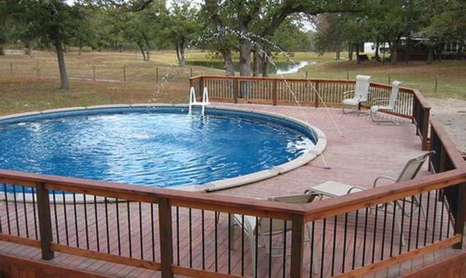 Pool Deck Plans Above Ground Decks