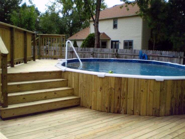 Pool Deck Plans Foot Round Design Ponds Pools Water Features