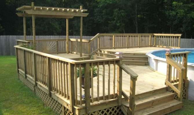 Pool Decks Above Ground Pools Plans