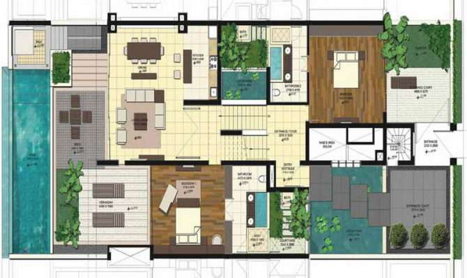 Pool House Blueprints Home Spaces Design