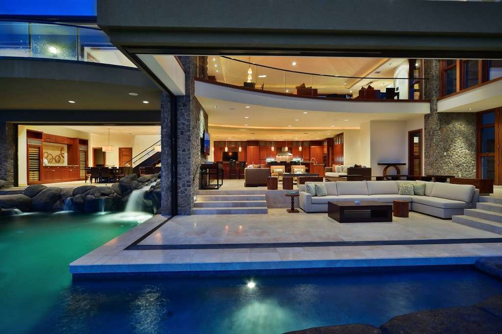 Pool Surrounds Homes Patio Two Sides Edged Irregular
