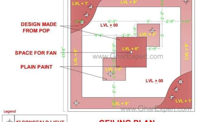 Pop False Ceiling Design Room Gharexpert