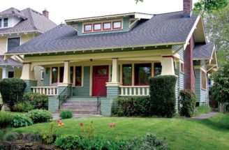 Popular Craftsman Style Bungalow Features Squat Battered Porch