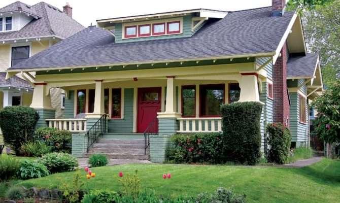 Popular Craftsman Style Bungalow Features Squat Battered Porch