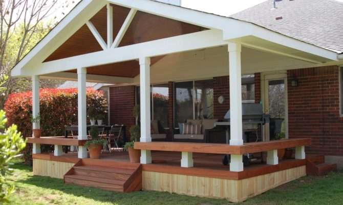 Porch Designs Small Houses Covered Back Yard Deck