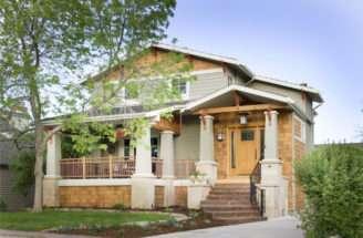 Porch Railing Designs Exterior Craftsman Black