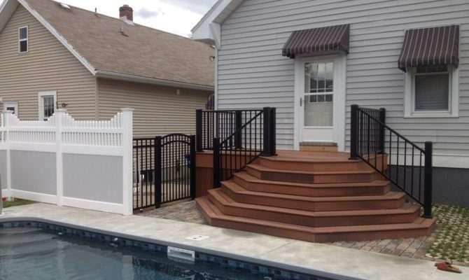 Porch Railing Ideas Front Wood Outdoor Deck Designs