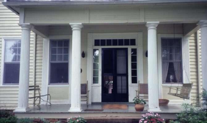Portico Mcclelland Davis House Iredell County North Carolina