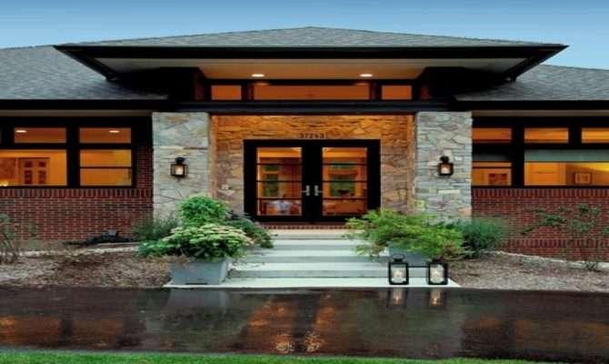 Prairie Style Exterior Doors Contemporary Craftsman