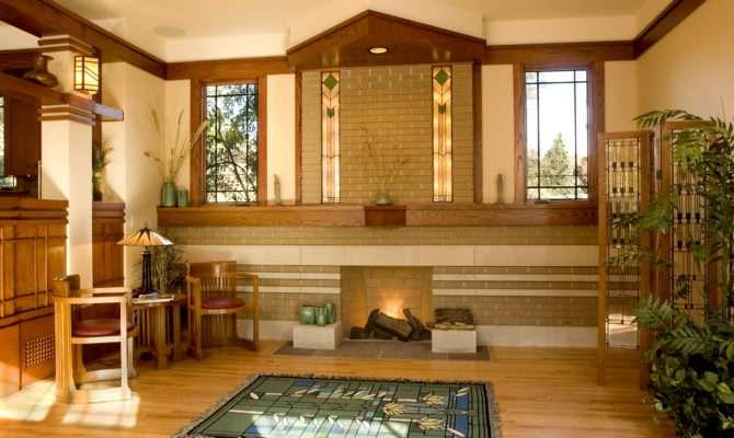 Prairie Style Fireplace Frank Lloyd Wright West Studio Stephen