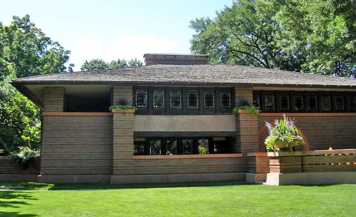 Prairie Style Frank Lloyd Wright Pattern Home