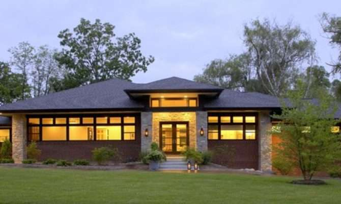 Prairie Style Home Contemporary Exterior Detroit