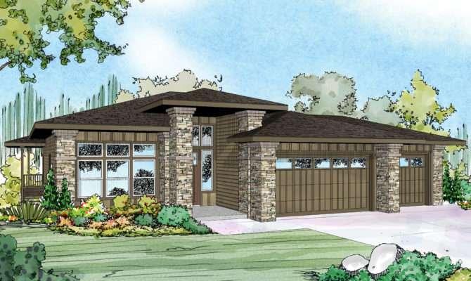 Prairie Style House Plans Hood River Associated Designs