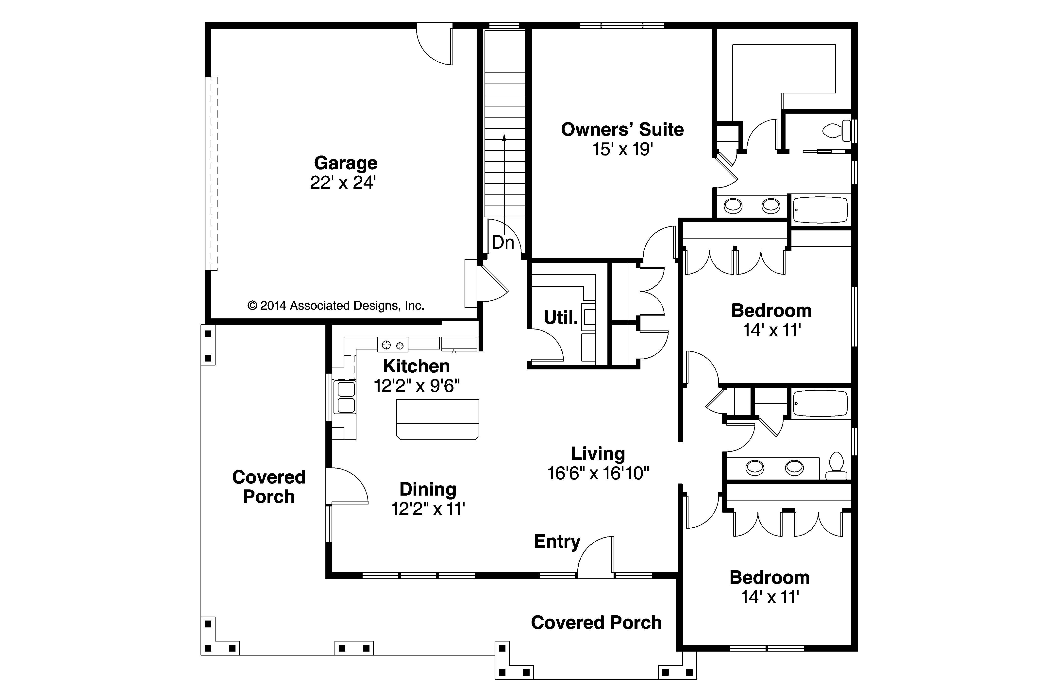 Prairie Style House Plans Sahalie Associated