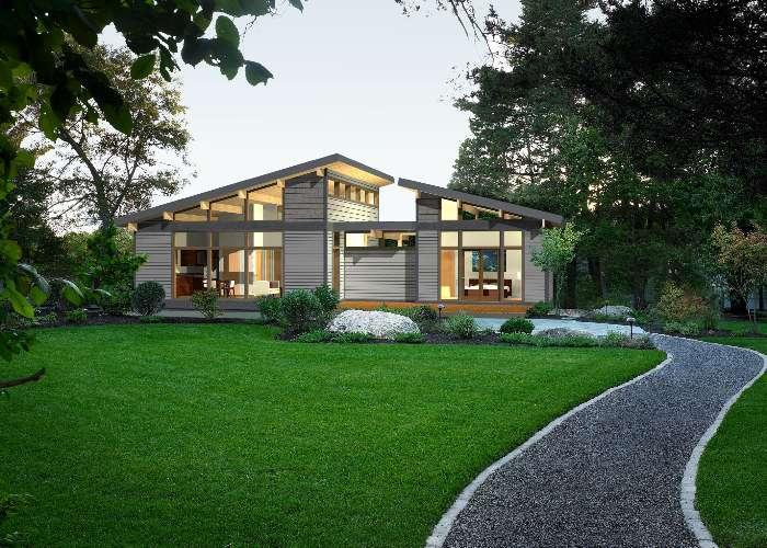 Predesigned Green Homes Lindal Modern Frame Series