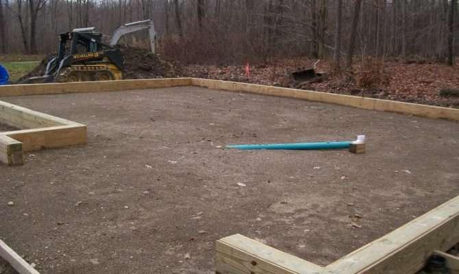 Prep Drain Installation Custom Pole Barn Garage Construction