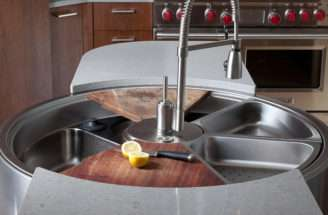 Private Yacht Kitchen Sinks Has Room Weeks Dirty Dishes