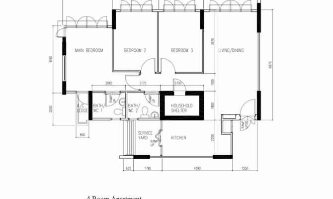 Punggol Room Hdb Original Floor Plan Vincent