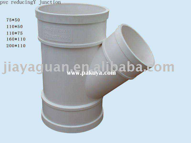 Pvc Pipe Fittings Degree Reducing Junction Manufacturers
