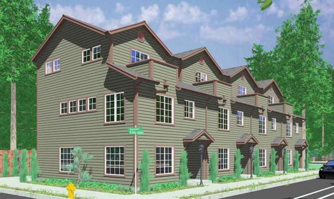 Quadplex House Plans Multi