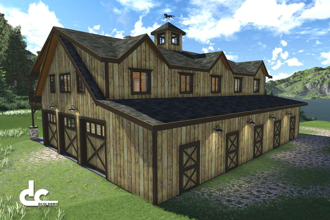 Quarters Metal Buildings Living Plans Pole Barn Homes