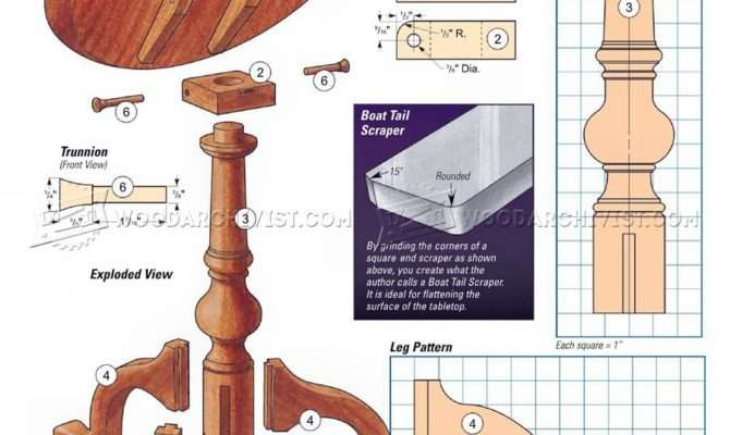 Queen Anne Candle Stand Table Plans Woodarchivist
