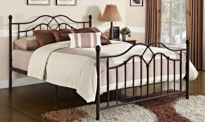 Queen Metal Bed Frame Bedroom Dorm Bronze Furniture Sturdy