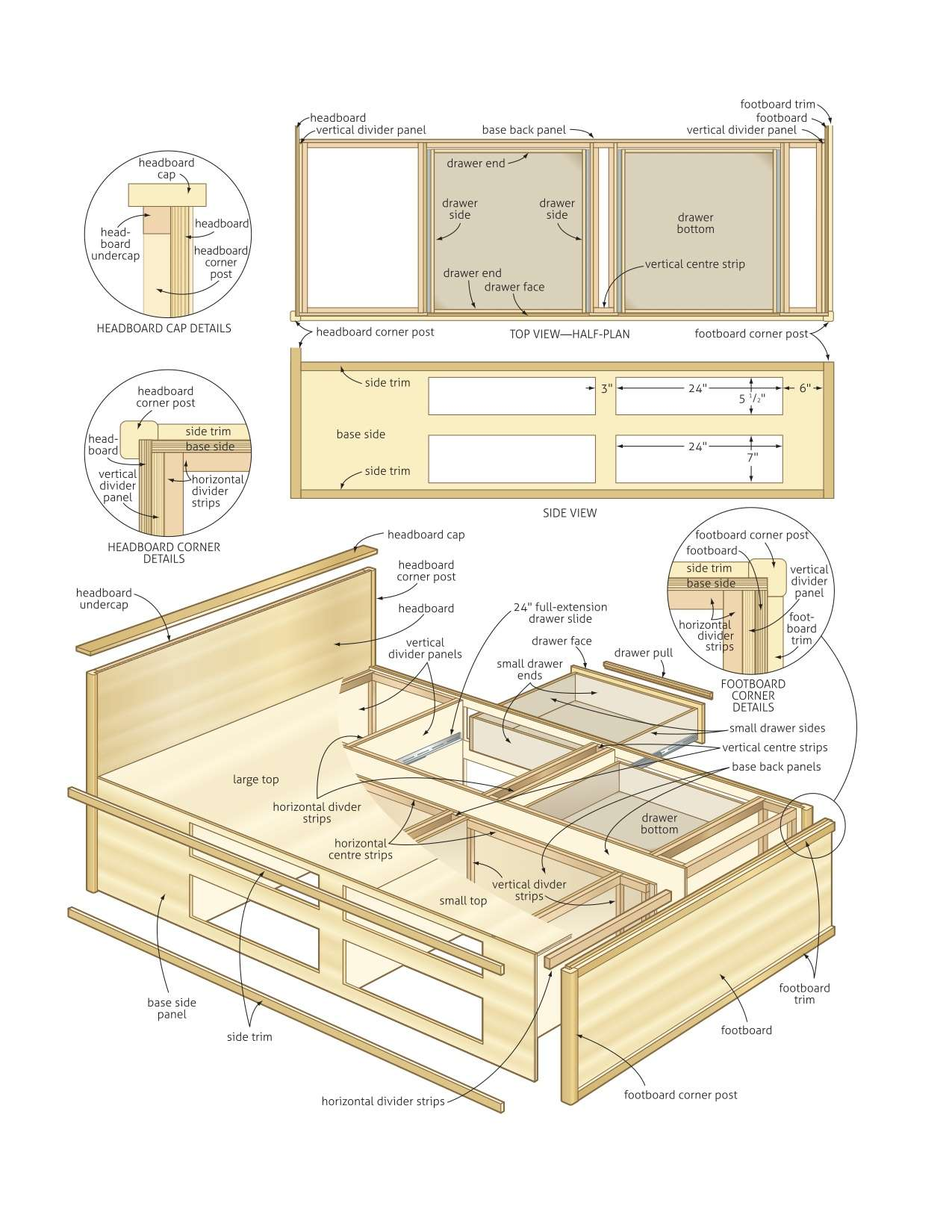 Queen Storage Bed Plans Diy Blueprints