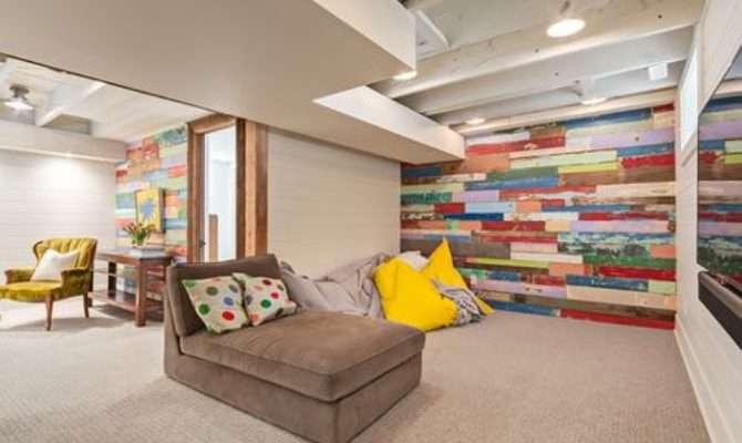 Raised Ranch Craftsman Basement Design Ideas