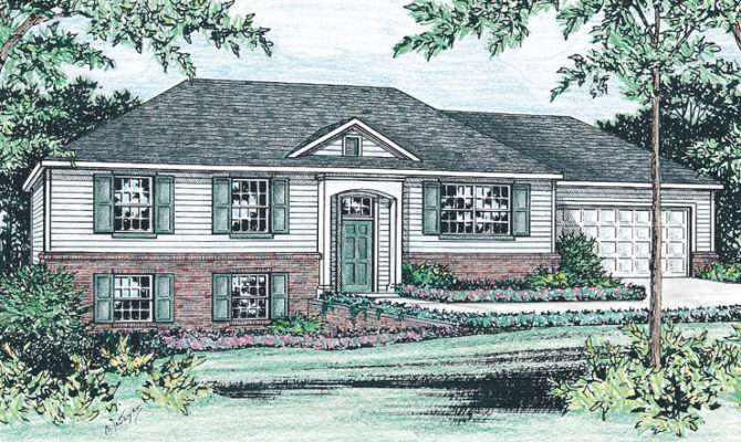 Raised Ranch Home Plan Just Right