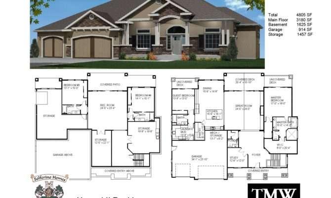 Rambler House Plans Basement