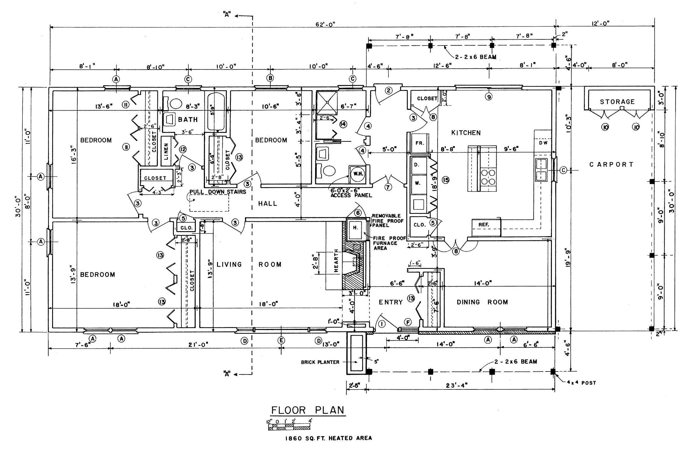 Ranch House Floor Plan Foundation