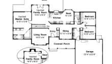 Ranch House Plan Benton Floor