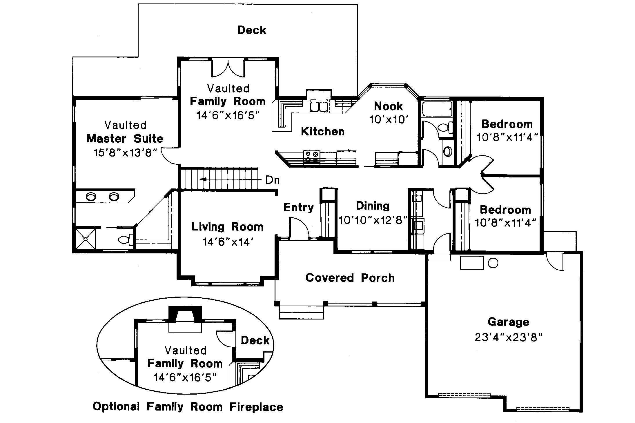Ranch House Plan Benton Floor