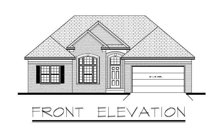 Ranch House Plan Garage Basement Ebay