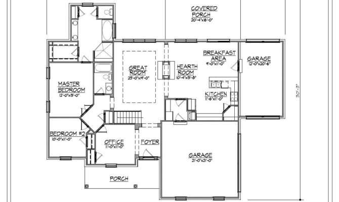 Ranch House Plan Garage Basement