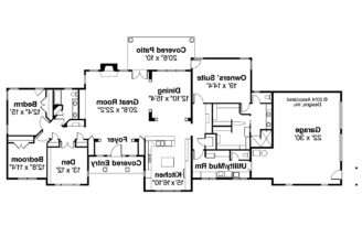 Ranch House Plan Parkdale Floor