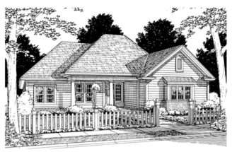 Ranch House Plans Affordable Home Plan Four Bedrooms