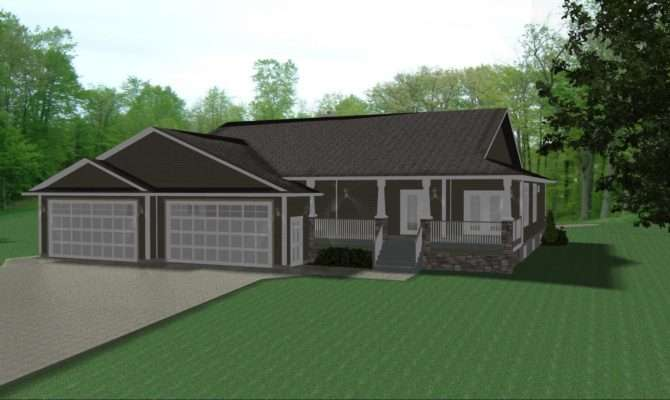 Ranch House Plans Car Garage Design