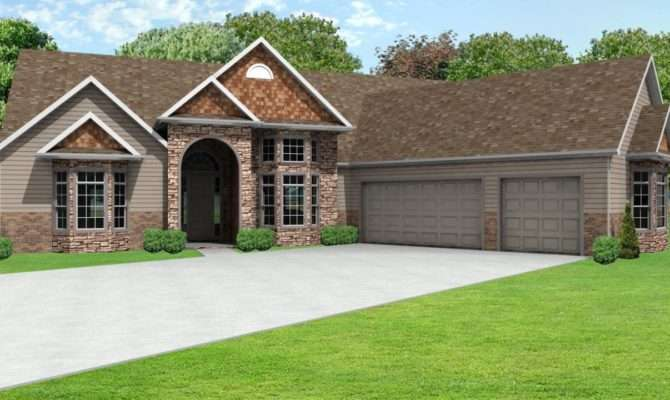 Ranch House Plans Car Garage
