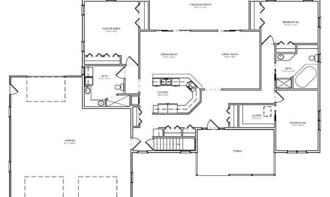 Ranch House Plans Vaulted Great Room
