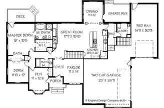 Ranch Style House Floor Plan Design