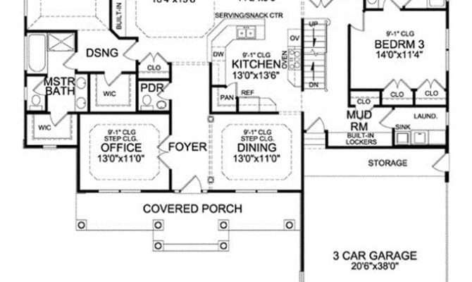 Ranch Style House Plans Basement Luxury Craftsman