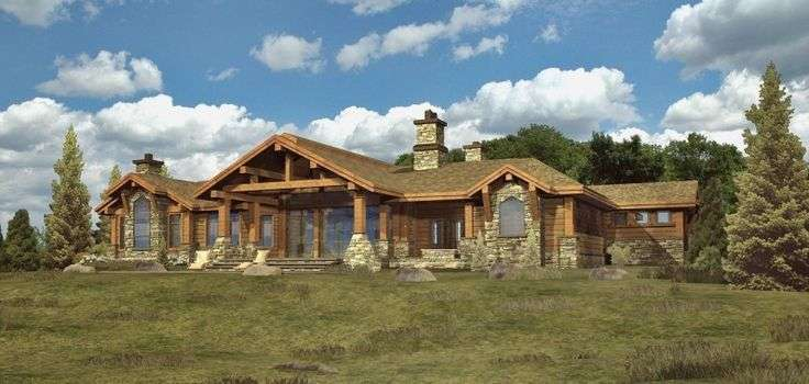 Ranch Style House Plans Custom Log Modular Home