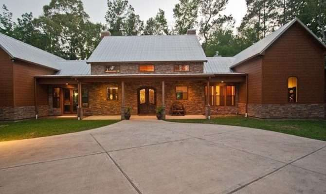 Ranch Style House Plans Shaped Contemporary Home